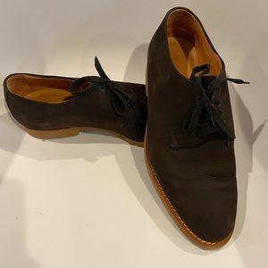 Giorgio Armani Brown Nubuck Lace Up Men's Shoe